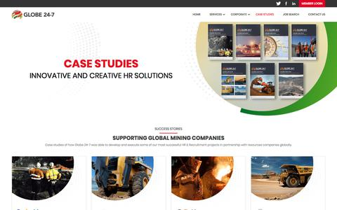 Screenshot of Case Studies Page globe24-7.com - Case Study | Globe 24-7 - captured July 21, 2018