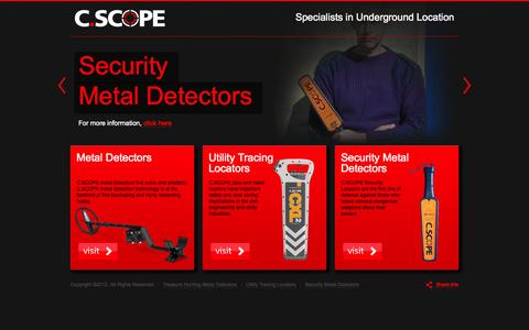 Screenshot of Home Page cscope.co.uk - C.Scope Metal Detectors and Pipe and Cable Locators - captured Oct. 1, 2014