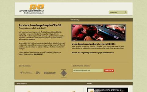Screenshot of Home Page herniasociace.cz - AHP - captured Dec. 3, 2016