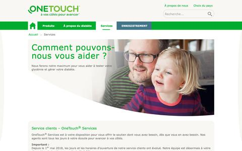 Screenshot of Services Page gammeonetouch.fr - Nous contacter | OneTouch® - captured Oct. 22, 2018