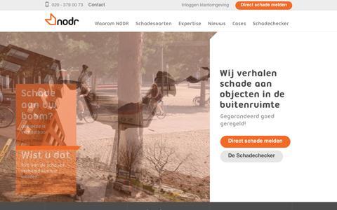 Screenshot of Home Page nodr.nl - Wij verhalen schade in de openbare ruimte - NODR - captured June 14, 2017