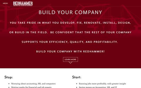 Screenshot of Home Page redhammer.it - REDHAMMER LLC - Home - captured Feb. 14, 2016