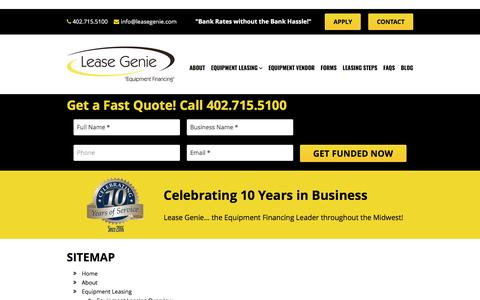Screenshot of Site Map Page leasegenie.com - Sitemap | Lease Genie - captured May 16, 2017