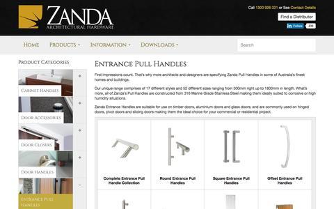 Entrance Door Pull Handles | Front Door Handles | Zanda