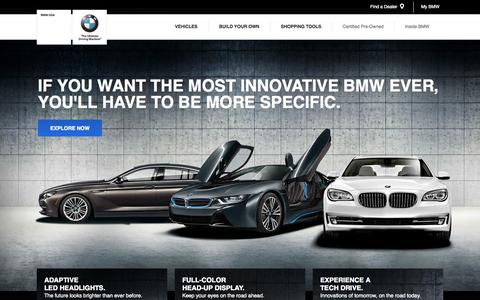 Screenshot of Home Page bmwusa.com - BMW of North America, LLC - captured Sept. 18, 2014