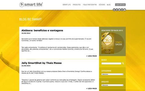 Screenshot of Blog smartlife.com.br - Blog Be Smart - Smart Life - captured Sept. 30, 2014