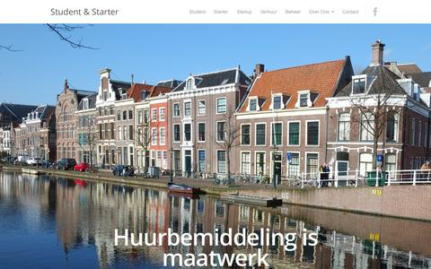 Screenshot of Home Page student-starter.nl - Student & Starter Huurbemiddeling | Huurbemiddeling is maatwerk - captured Oct. 8, 2014