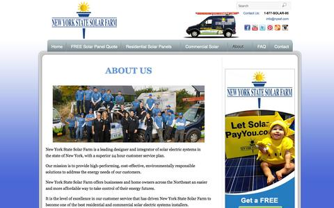 Screenshot of About Page nyssf.com - About New York State Solar Farm - captured Oct. 7, 2014