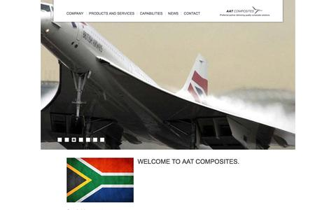 Screenshot of Home Page aatcomposites.com - Home - AAT Composites - captured May 28, 2017