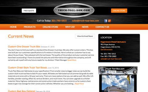 Screenshot of Press Page truck-tool-box.com captured Oct. 25, 2017