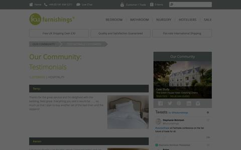 Screenshot of Testimonials Page foufurnishings.com -   Fou Furnishings - captured Oct. 11, 2018
