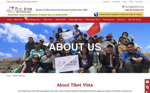 Screenshot of About Page tibettravel.org - Tibet Travel Agency: leading Tibetan Owned Tour Agency - Tibet Vista - captured Dec. 3, 2019