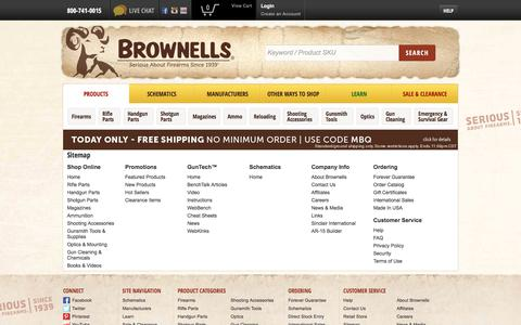 Screenshot of Site Map Page brownells.com - Brownells.com Sitemap | World's Largest Supplier of Gun Parts, Gunsmith Tools & Shooting Accessories - Brownells - captured Oct. 24, 2017
