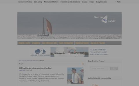 Screenshot of Team Page sail-in-finland.info - Interviews - Sail in Finland - captured Dec. 20, 2015