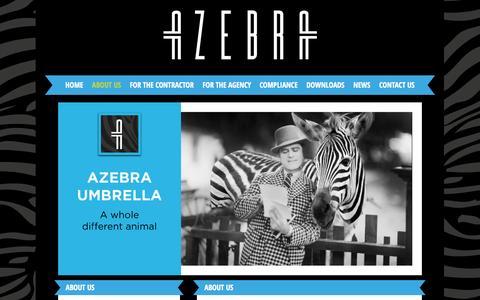 Screenshot of About Page azebra.co.uk - About Us - AZebra - captured Nov. 2, 2014