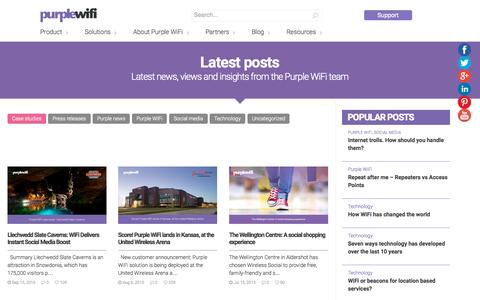 Screenshot of Case Studies Page purplewifi.net - Case studies – Purple WiFi - captured Oct. 1, 2015