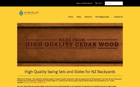 Screenshot of Home Page kiwiplay.co.nz - High-quality Swing Sets for Kids, New Zealand - Kiwiplay - captured Oct. 6, 2014