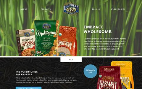 Screenshot of Products Page lundberg.com - Products | Lundberg Family Farms - captured Sept. 19, 2014