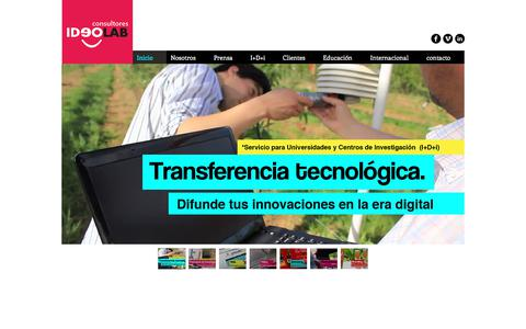 Screenshot of Home Page ideolab.cl - ideolab consultores - captured July 26, 2018