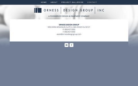 Screenshot of Contact Page ornessdesigngroup.com - Contact — Orness Design Group - captured Dec. 3, 2016