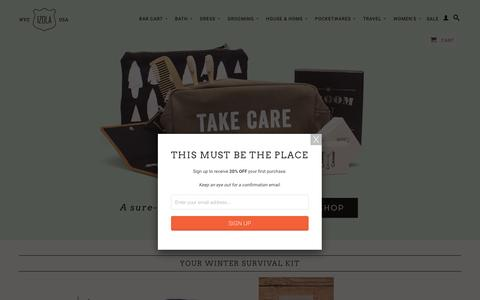 Screenshot of Home Page izola.com - IZOLA | Gifts & Goods for the Journey | NYC - captured March 7, 2017