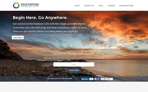 Screenshot of Home Page sourcemap.com - Home - captured Dec. 16, 2015