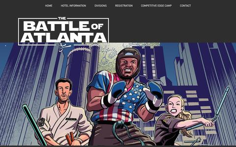 Screenshot of Home Page thebattleofatlanta.com - thebattleofatlanta - captured Nov. 18, 2016