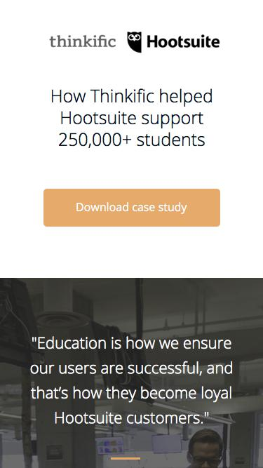 Thinkific Case Study with Hootsuite