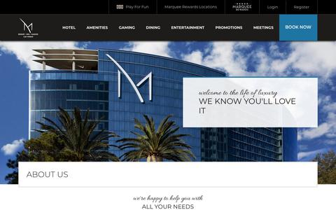 Screenshot of About Page themresort.com - About Us | M Resort Spa Casino - captured Aug. 8, 2018