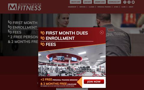 Screenshot of Signup Page mountainsidefitness.com - Membership Registration - Mountainside Fitness - captured Sept. 23, 2018
