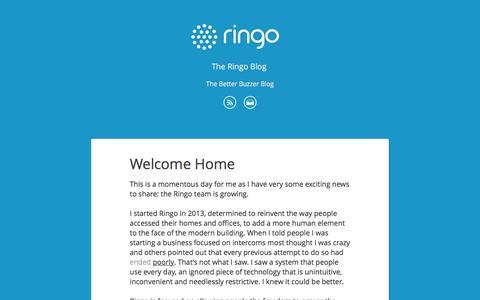 Screenshot of Blog useringo.com - The Ringo Blog - captured Dec. 1, 2016