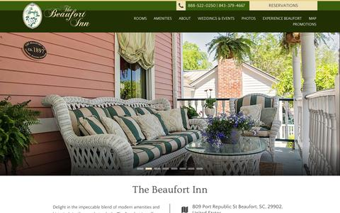 Screenshot of Site Map Page beaufortinn.com - The Beaufort Inn | Beaufort, SC - captured Oct. 7, 2014