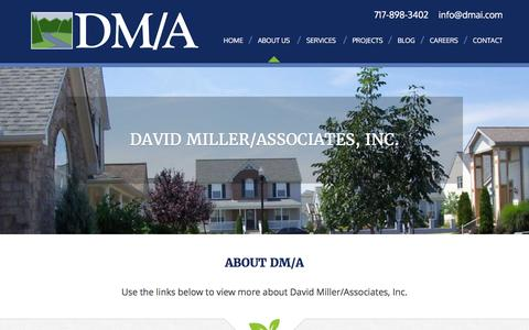 Screenshot of About Page dmai.com - About Us - David Miller Associates - captured Feb. 8, 2016