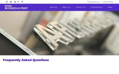 Screenshot of FAQ Page 3bdap.co.uk - FAQs | Newnorth - captured Nov. 1, 2018