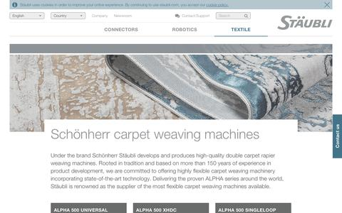 Schönherr carpet weaving machinery for any kind of carpet - Stäubli