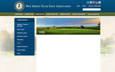 Screenshot of FAQ Page njsga.org - FAQs | New Jersey State Golf Association | NJSGA | NJ Golf Courses, Clubs - captured Nov. 13, 2017