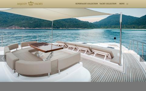 Screenshot of Home Page majesty-yachts.com - Majesty Yachts | Luxury Superyachts and Yachts - captured April 8, 2016
