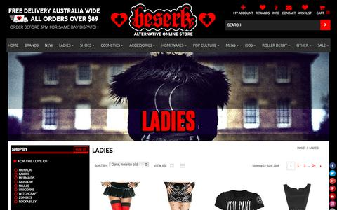 Alternative & Gothic Womens Clothing - Beserk
