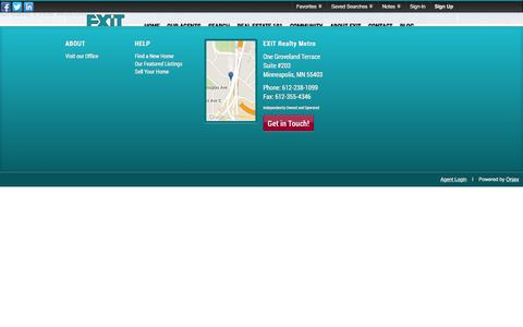 Screenshot of Signup Page Login Page ermetro.com - Signup - captured Jan. 24, 2016