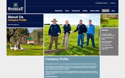 Screenshot of About Page charlesstewart.com.au - Charles Stewart Real Estate Company Profile - captured Oct. 2, 2014