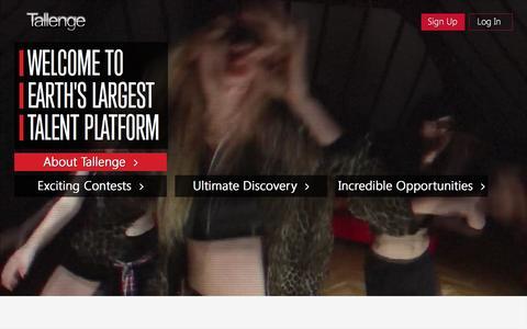 Screenshot of Home Page tallenge.com - Tallenge - Earth's Largest Talent Platform - captured Dec. 4, 2015