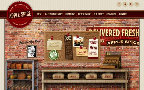 Screenshot of Home Page applespice.com - Apple Spice Junction, Apple Spice Cafe Bakery, Box Lunch Delivery - captured June 18, 2015
