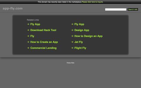 Screenshot of Home Page app-fly.com - App-Fly.com - captured May 30, 2017
