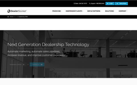 Screenshot of Contact Page dealersocket.com - Dealership CRM - captured May 10, 2017