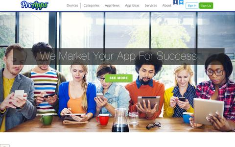 Screenshot of Services Page preapps.com - Mobile App Marketing Services - Android & Iphone App Marketing - PreApps - captured Dec. 3, 2015