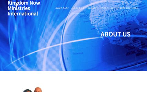 Screenshot of About Page thekingdomishere.com - About Us – Kingdom Now Ministries International - captured Oct. 17, 2017