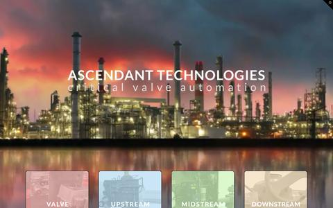 Screenshot of Home Page ascendant-technologies.com - Ascendant Technologies - Oil and Gas Valve Automation Centre - Ascendant Technologies - captured Nov. 21, 2016