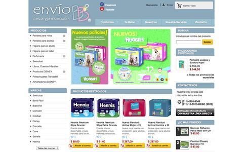 Screenshot of Home Page enviobb.com.ar - Envío de pañales a domicilio delivery - Envío BB - captured Sept. 30, 2014