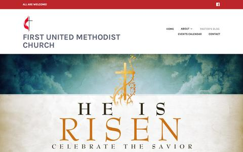 Screenshot of Blog wordpress.com - Pastor's Blog – First United Methodist Church - captured April 18, 2017