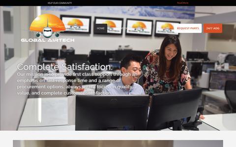 Screenshot of Home Page globalairtech.com - Global Airtech - captured July 19, 2018